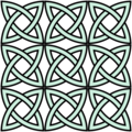 "Array of ""Solomon's knots"" forming overall circular patterns."