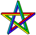 "As impossible object (""Penrose"" pentagram)"